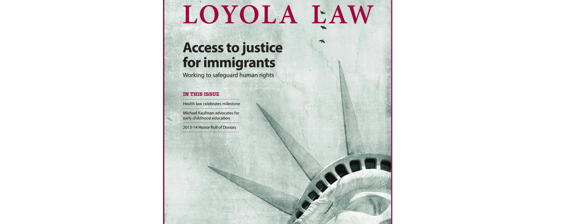 Robert D. Ahlgren featured in LOYOLA UNIVERSITY CHICAGO SCHOOL of LAW