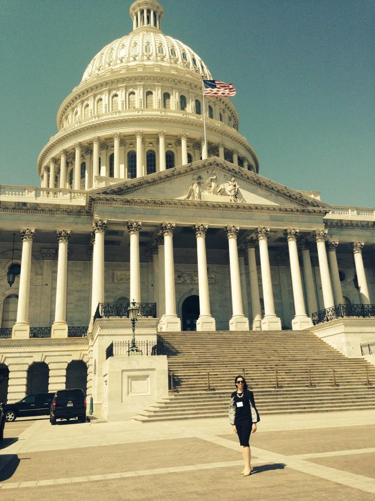 Katie Vanucci lobbying in DC
