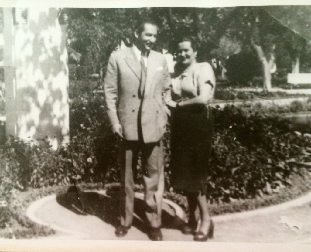 My Spanish grandparents in Mendoza, Spain, circa 1950