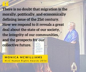 Monica McWilliams NIJC Human Rights Awards 2016