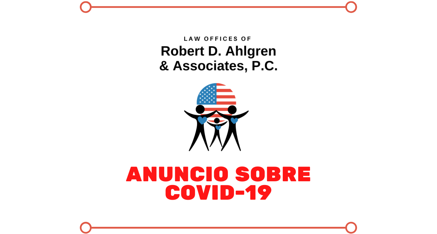 Anuncio sobre COVID-19